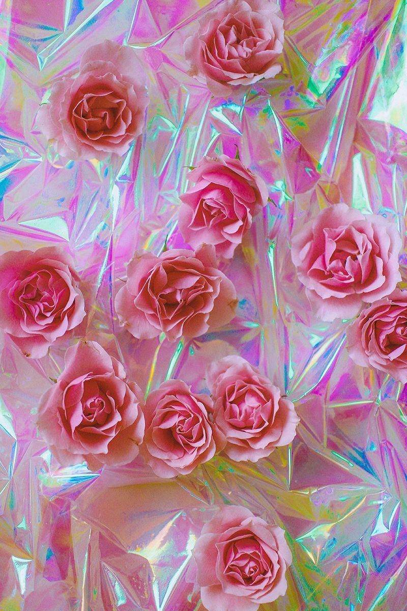 Iridescent roses rosesinmyheart - Pink rose wallpaper iphone ...