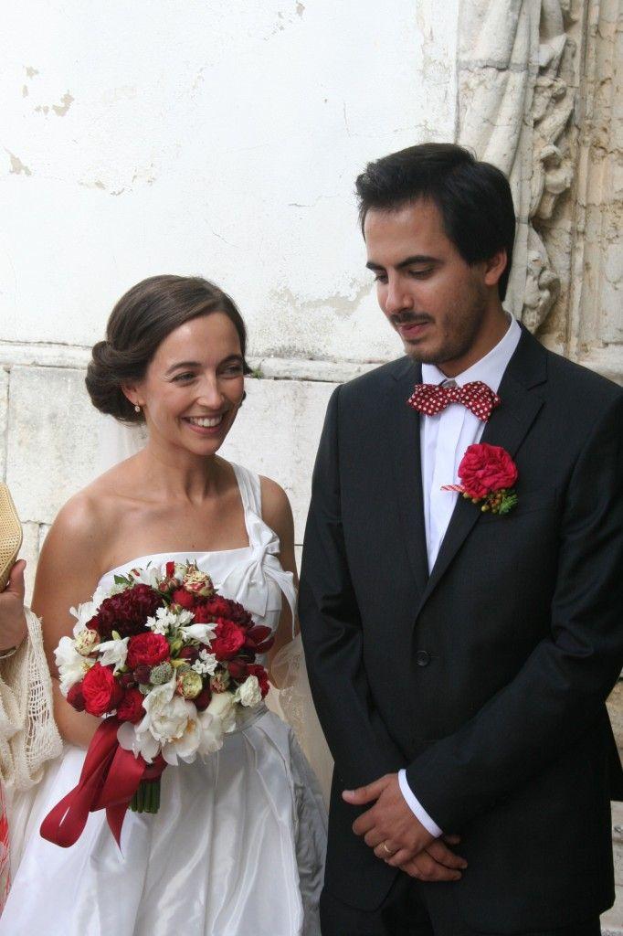 Kit de Beleza de Vera Garcia. #casamento #bouquet #vermelho #noivos #Portugal
