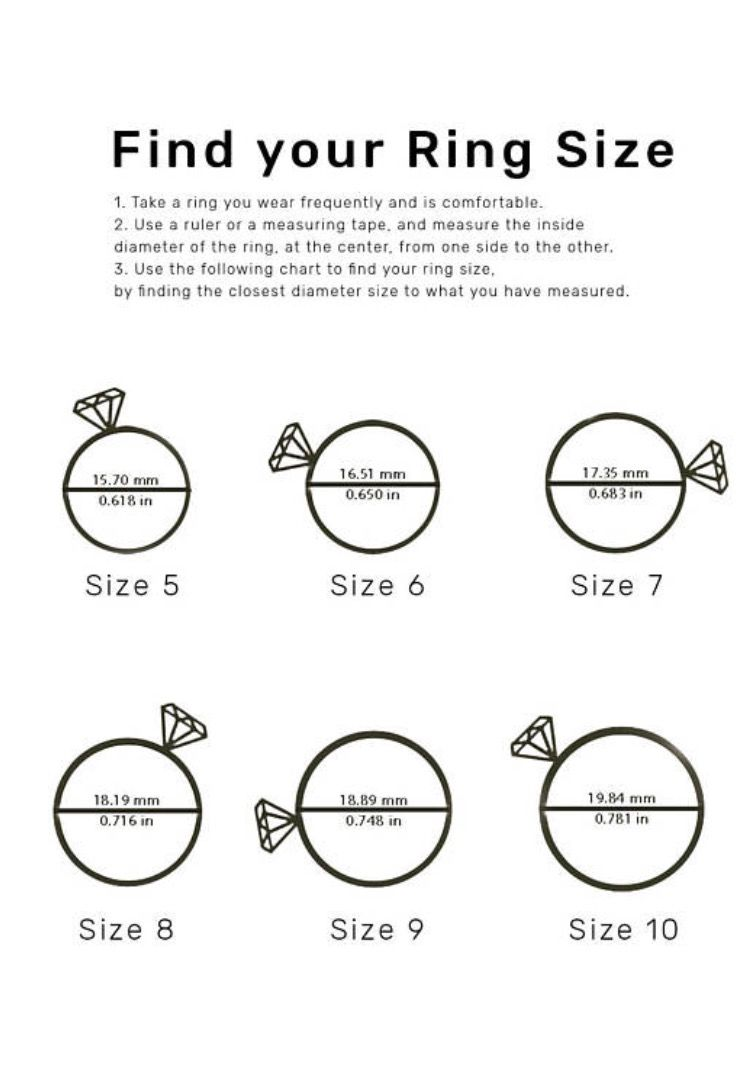 Do You Know Your Ring Size Ring Size Chart By Inbal Inbal