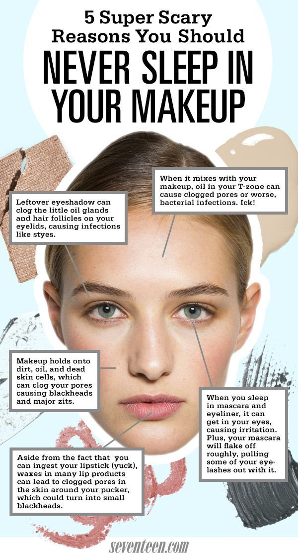5 Reasons Never To Sleep In Your Makeup - Reasons To Wash Your Face At Night #BeautyTips