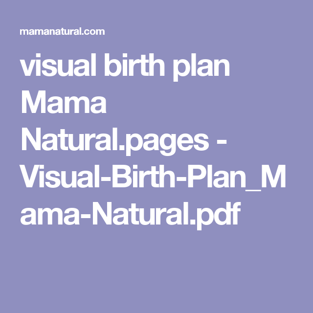 visual birth plan mama natural pages
