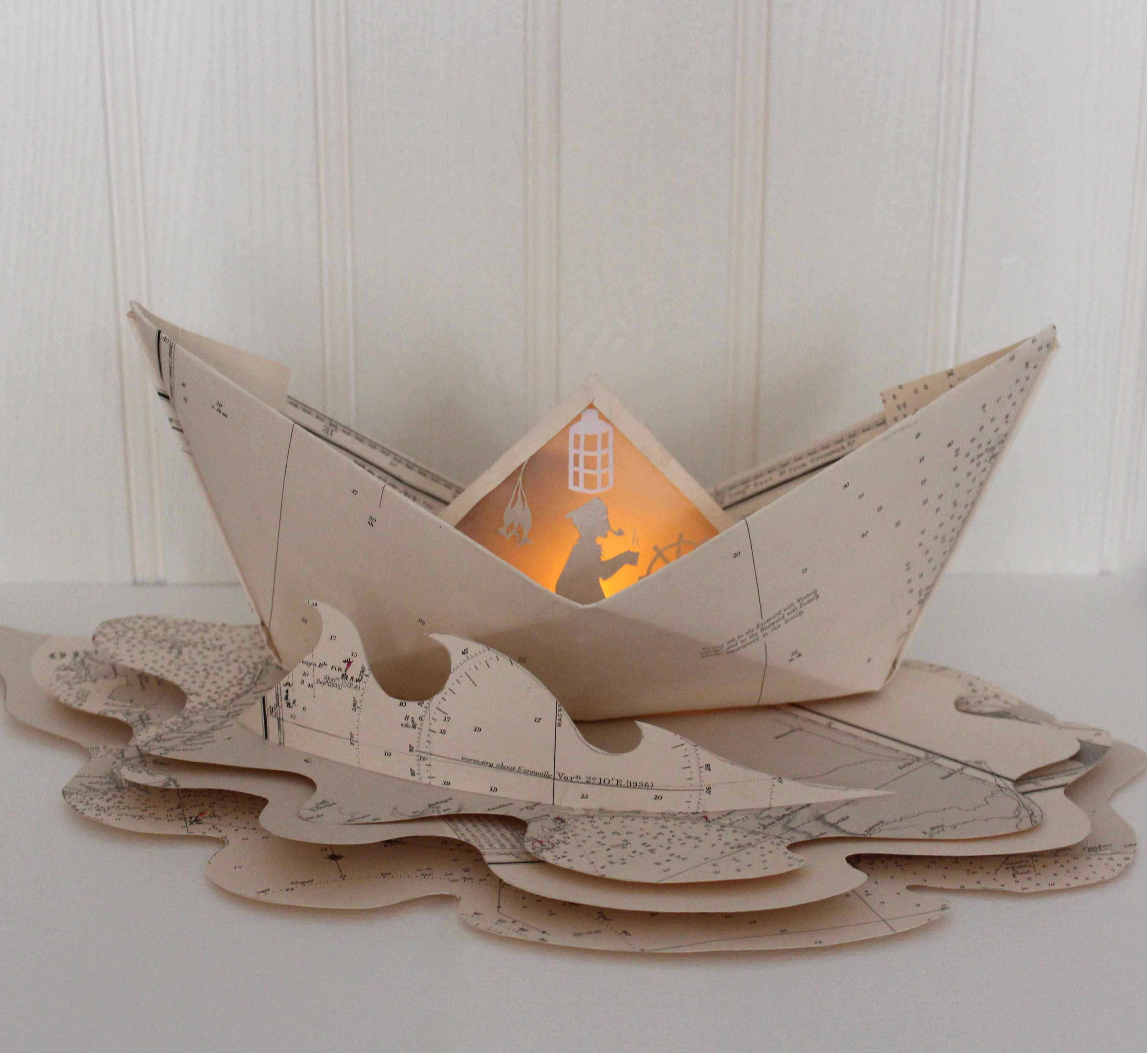 Kate Shows How To Make A Paper Boat Luminary Paper Craft Tutorials