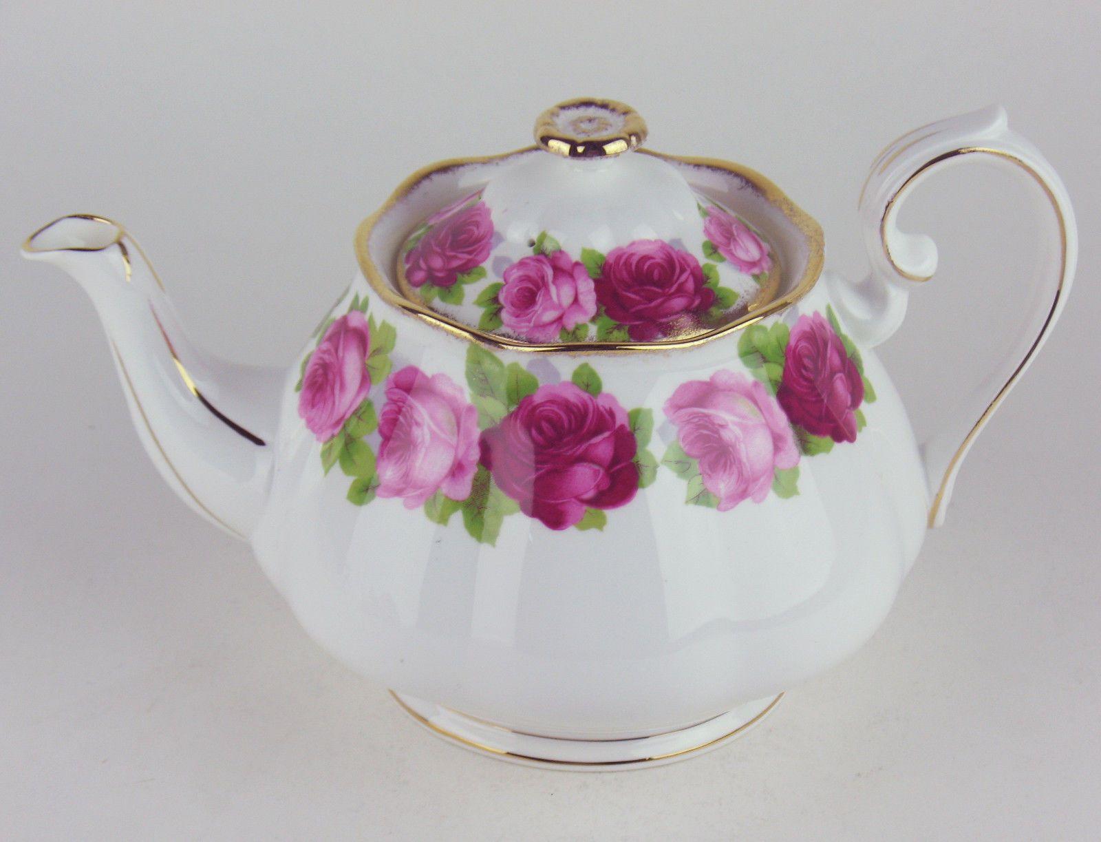Royal albert bone china tea cup amp saucer winsome pattern ebay - Large Teapot Royal Albert Old English Rose Bone China England