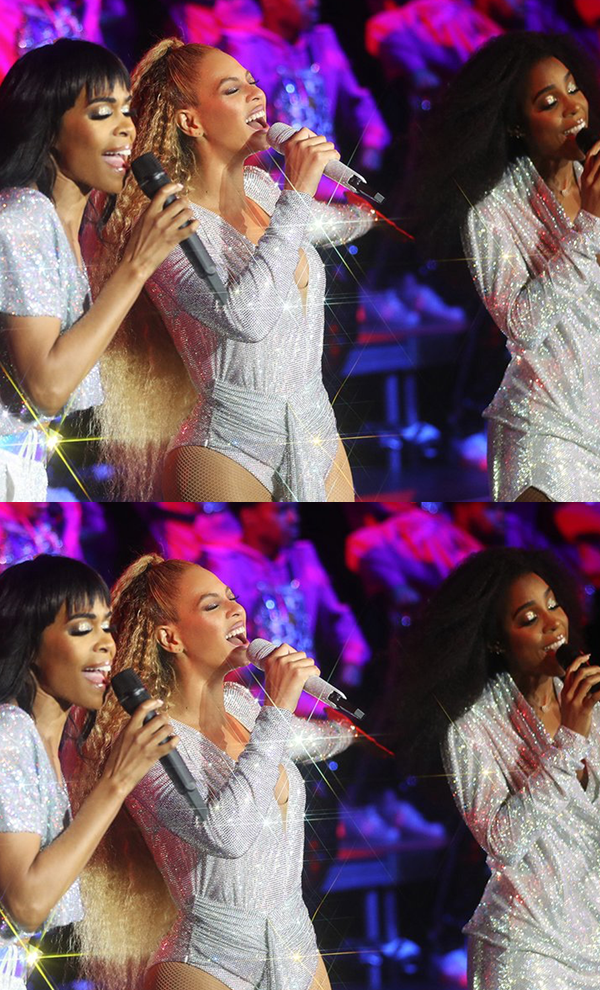 The legendary trio Beyoncé, Kelly and Michelle reunite for
