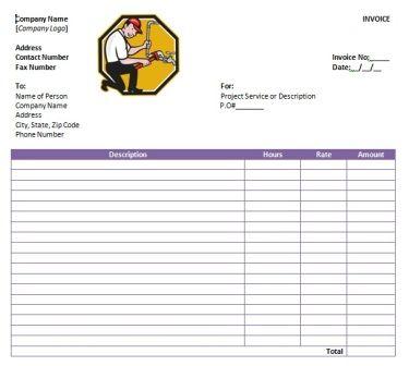 free plumbing invoice template 9 Free Plumbing Invoice Templates