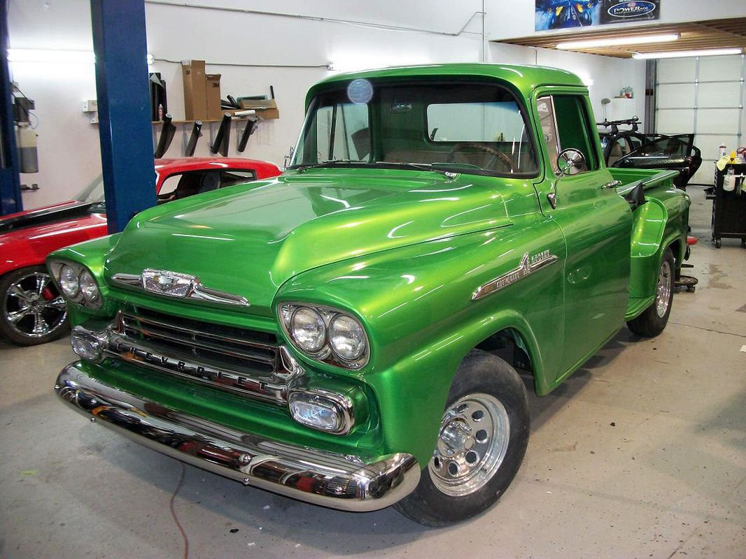 Green Chevy Peoria Il >> Metallic Lime Green Restored Trucks 1959 Chevy Truck