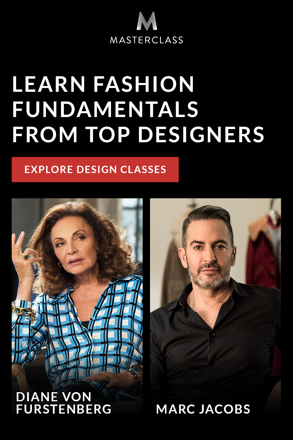 Online Classes Taught By Fashion Icons Marc Jacobs And Diane Von Furstenberg Master Class Online Classes Top Design Fashion