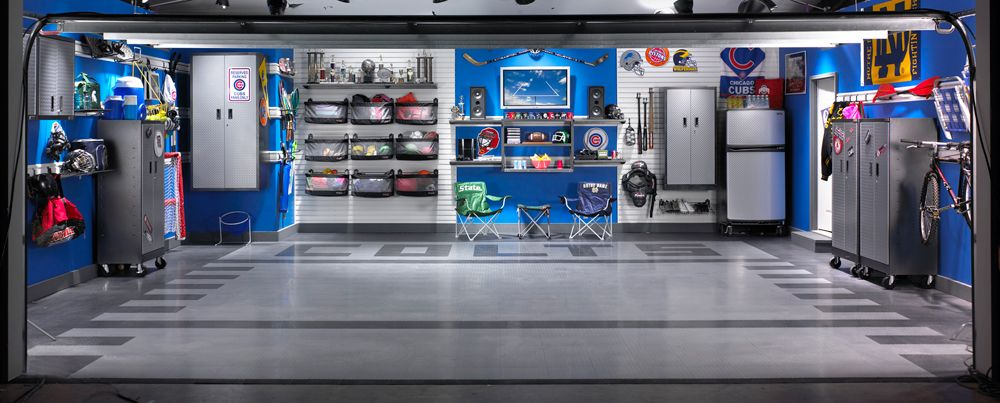 Ultimate sports garage man cave gladiator lifestyle