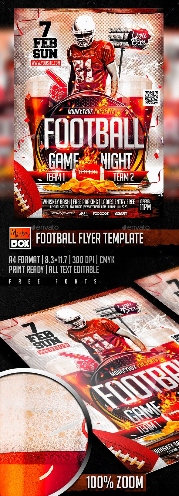football flyer template flyer template template and fonts