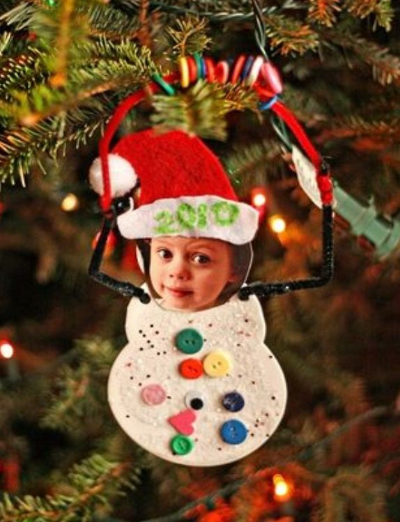 Snowman picture ornament