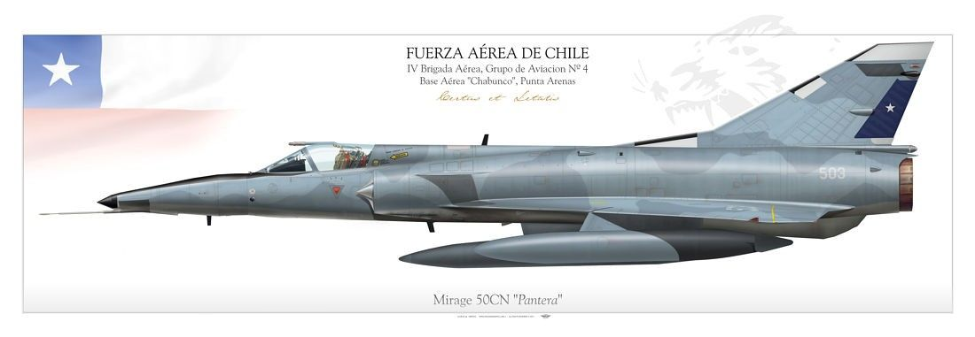 "CHILEAN AIR FORCE . FUERZA AÉREA DE CHILE IV Brigada Aérea, Grupo de Aviacion Nº 4 Base Aérea ""Chabunco"", Punta Arenas"