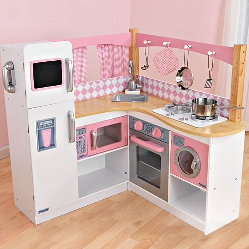 kidkraft grand gourmet corner kitchen play set | kids play