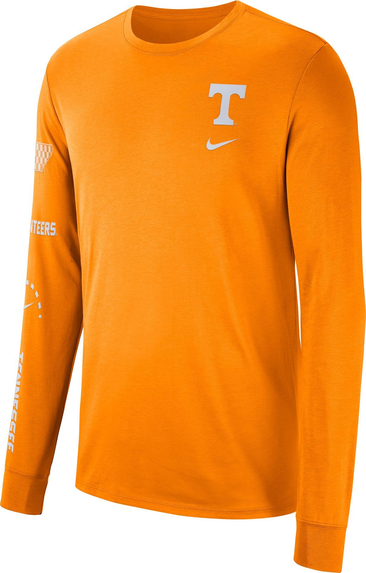 fb74aeaac Nike Men's Tennessee Volunteers Tennessee Orange Dri-FIT Elevated  Basketball Long Sleeve Shirt