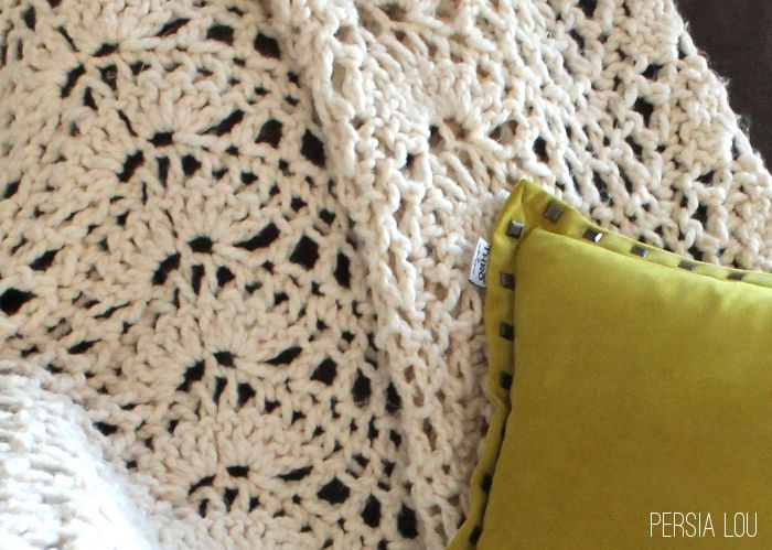 Chunky Feather And Fan Crochet Blanket Free Pattern Free Pattern