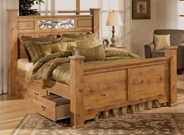 Bittersweet King Size Poster Bed By Signature Design Tenpenny