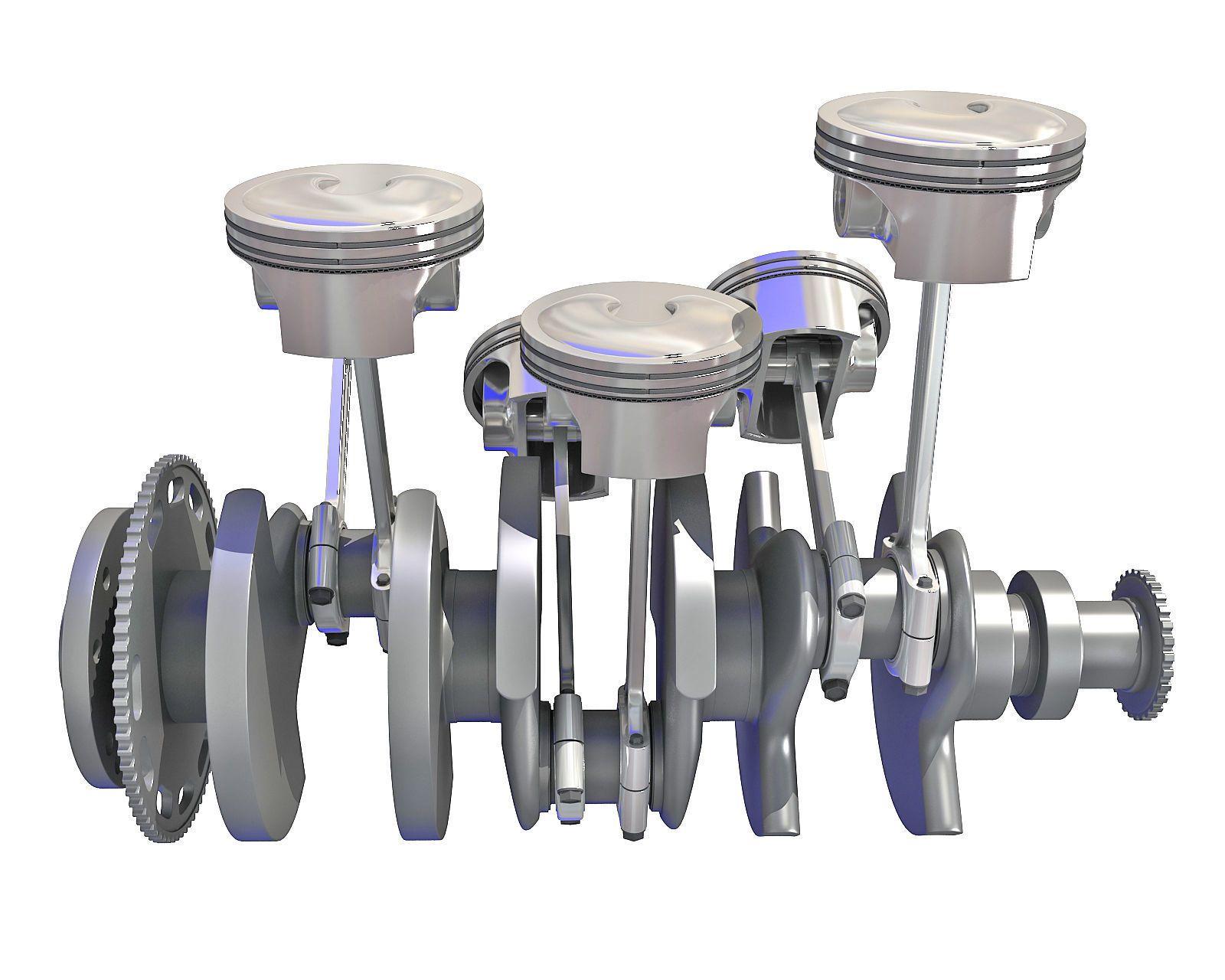 V6 Engine Cylinders 3d Model 3d Model Model Cylinder