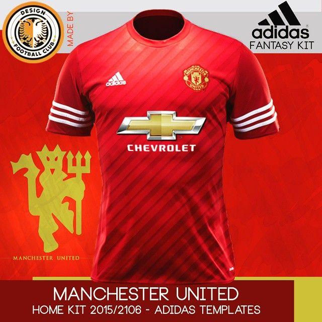 Mockups de novos uniformes para Manchester United. Criação feita usando  templates Adidas 2015 2016 fb7a20996fb9e