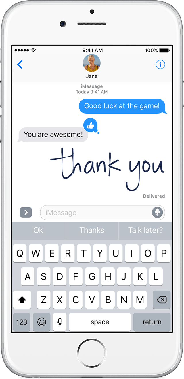 With iOS 10, you can make your iMessages more expressive. Add effects to  your