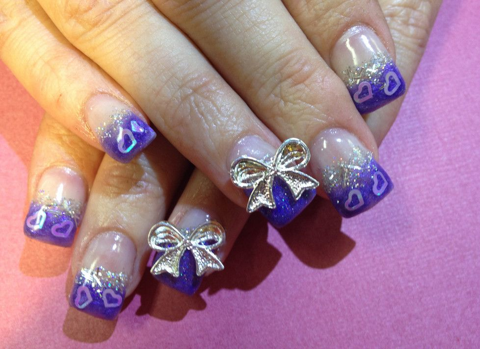 Bow Nail Tips Designs | Manicure | Pinterest | Bow nail designs