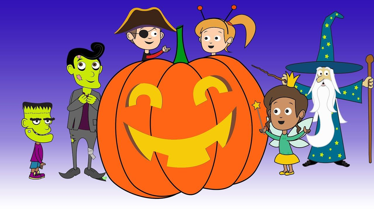 Halloween Night 2 Trick Or Treat Halloween Song Animation For Kids The Whole Family Youtube Halloween Songs Halloween Night Kids Halloween Songs