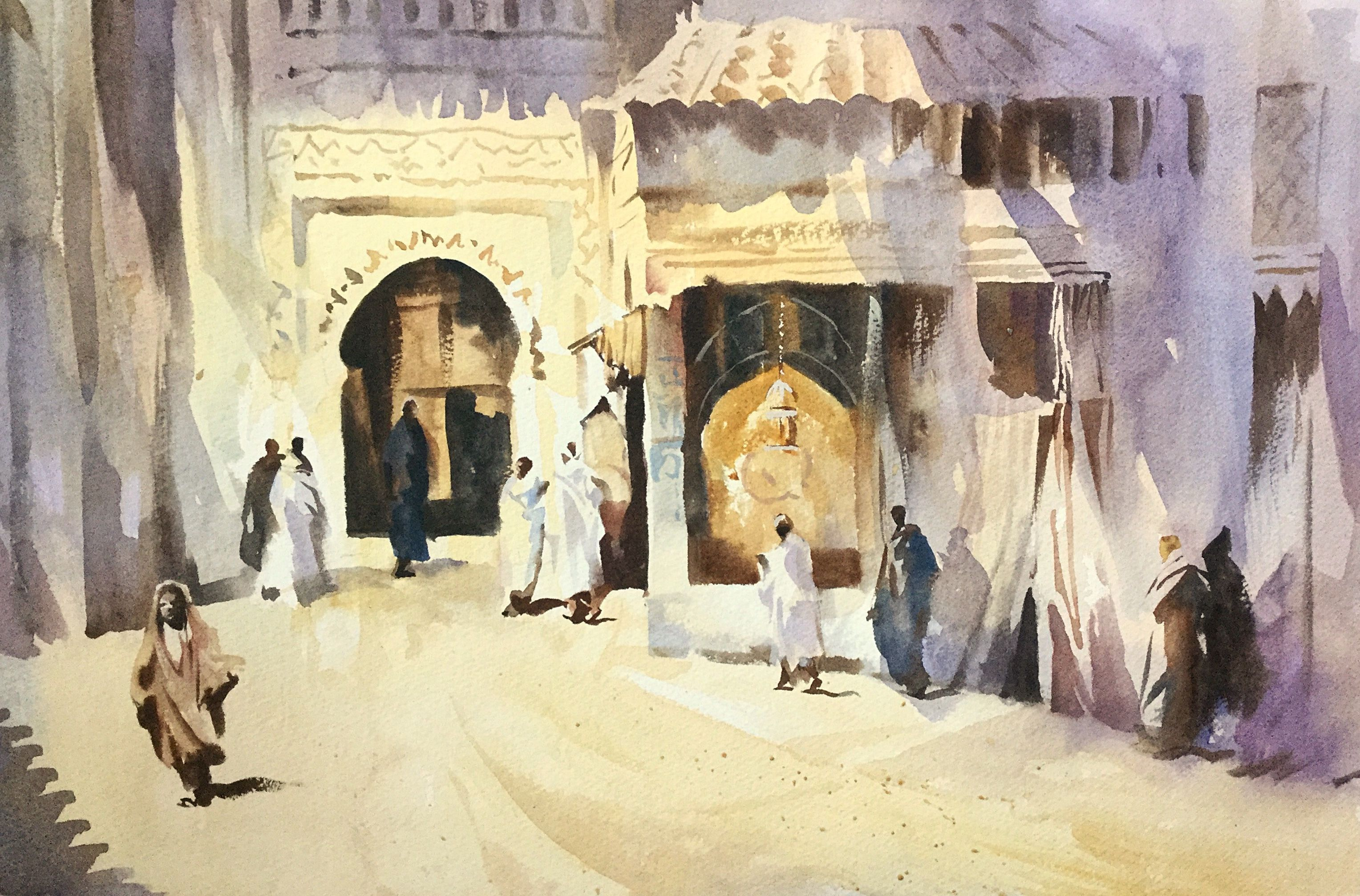 Old Morocco Watercolour By Trevor Waugh Www Trevorwaugh Com