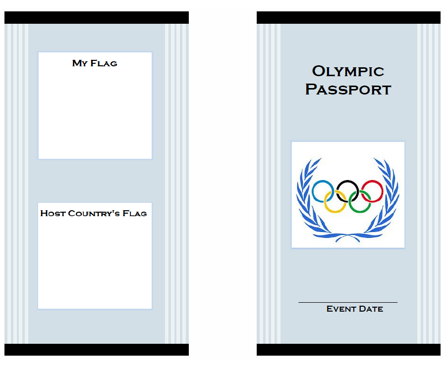 fun passport template - olympic passport for kids cover olympic projects