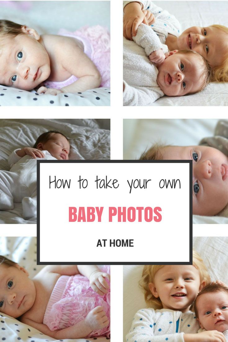 How to Take Your Own Baby Photos At Home | Baby photos, Babies and ...