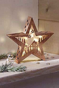 Weihnachtsdeko Bei Weltbild.Led Stern Winterwald Christmas Decoration Weihnachtsdeko Led
