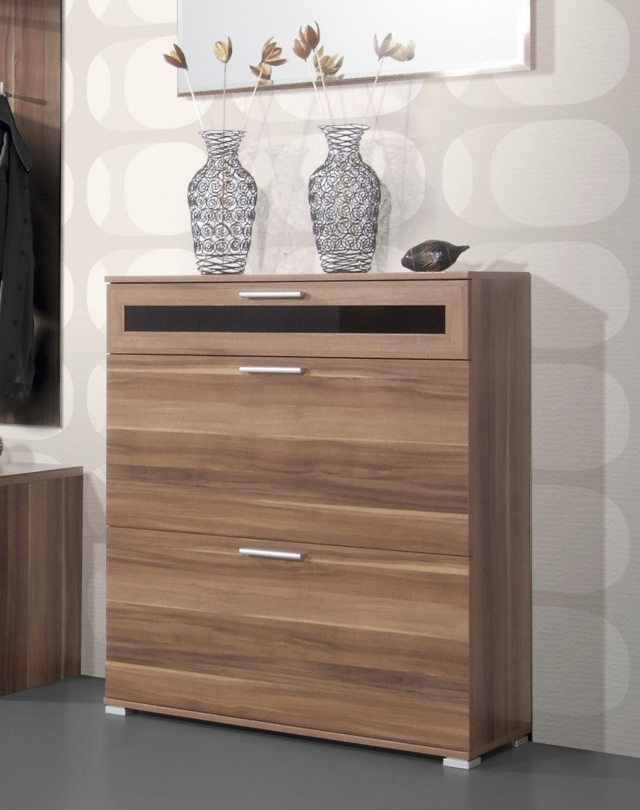 General : Mediano Shoe Cabinet In Walnut Shoe Cabinets Fashion ...
