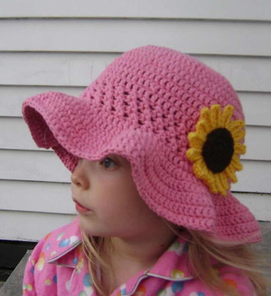 Wonderful 8 Free Patterns For Crochet Sun Hat Little Girls