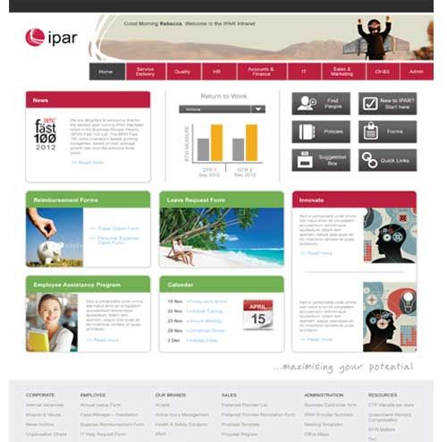 Simple SharePoint Intranet Redesign