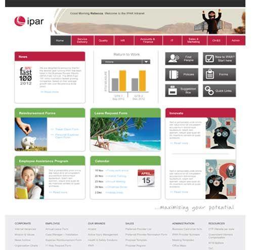 sharepoint intranet design example sharepoint online pinterest