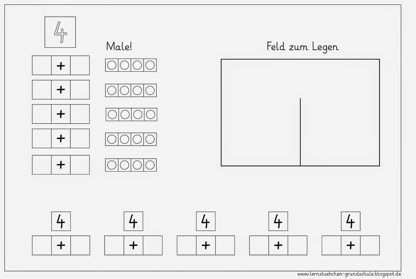 Lernstübchen: Zahlzerlegung von 4 bis 10 | Klasse 1 | Pinterest ...