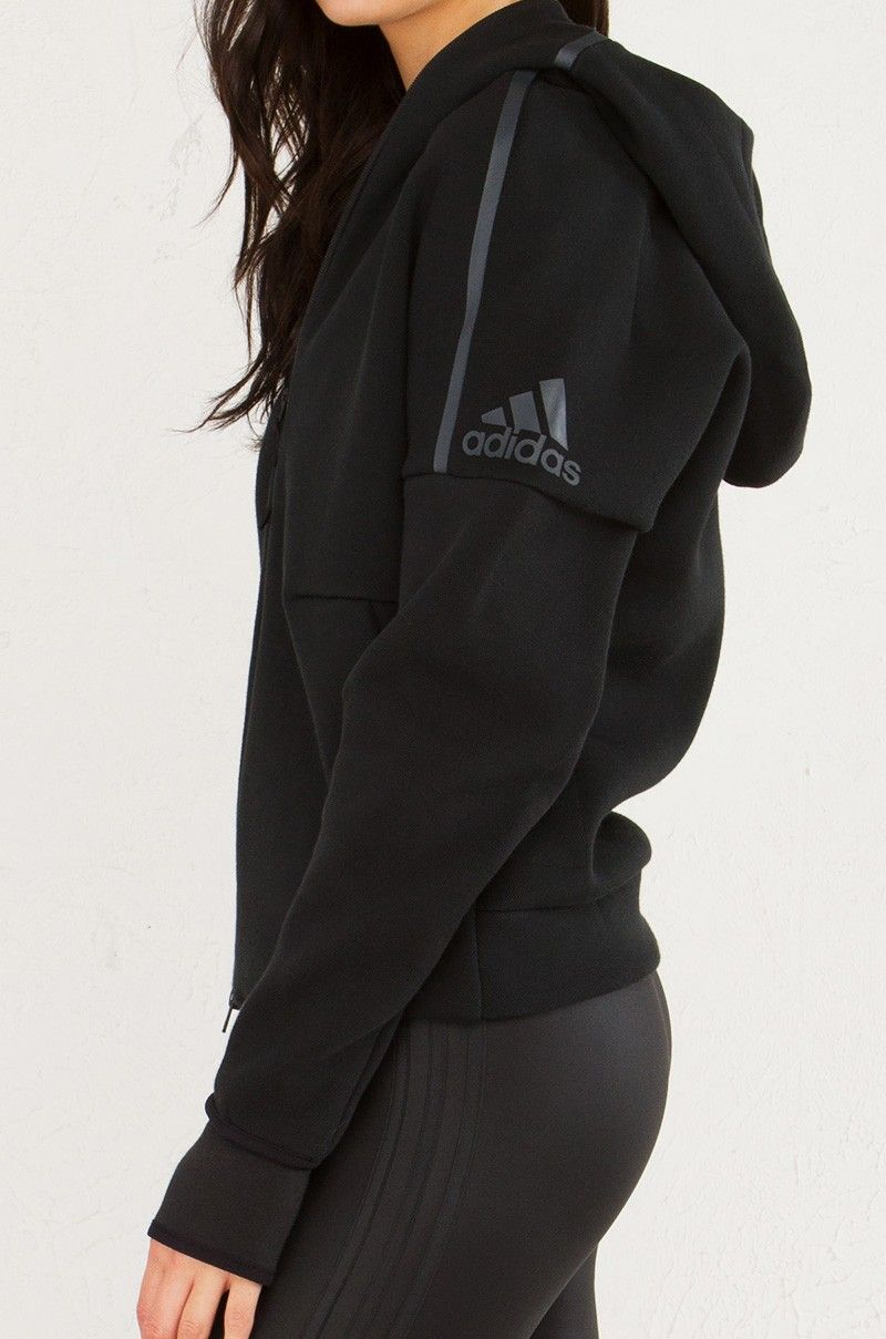 huge discount f5d30 f3d5c ADIDAS ZNE Zippered Hoodie in Black