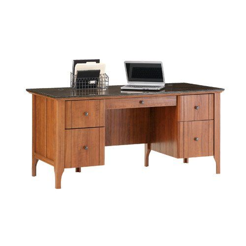 Sauder Appleton Executive Desk With Marble Top