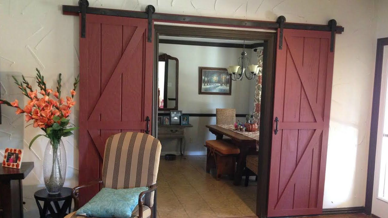 A girlfriend of mine really wanted a double sliding barn door so ...