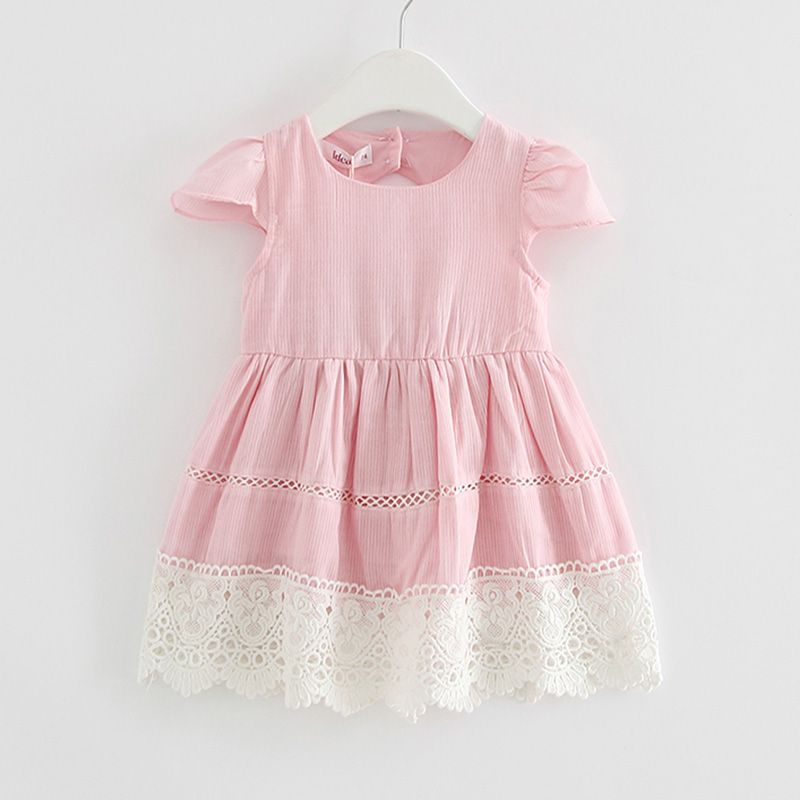 d6dadbf4878 Check out my new Girl's Pretty Round Collar Princess Dress with Lace hem,  snagged at a crazy discounted price with the PatPat app.