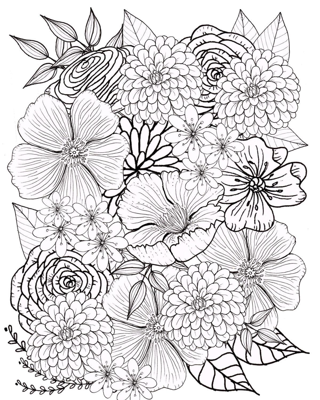 30 Malvorlagen Blumen Für Erwachsene - Besten Bilder von ausmalbilder