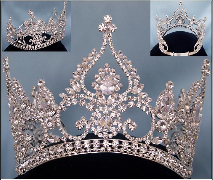 FONTAINEBLEAU BEAUTY PAGEANT RHINESTONE CROWN TIARA