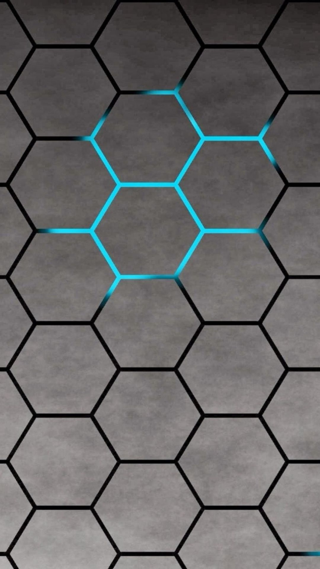 3D Blue Shiny Light Honey Comb Pattern Abstract Background Iphone