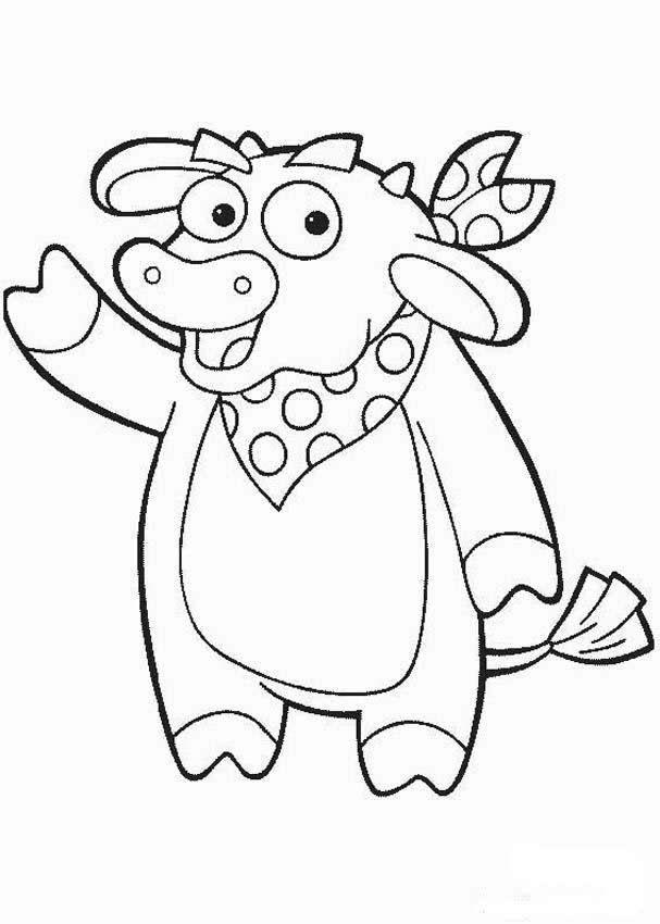 Dora Explorer Cow Birthday Dora Coloring Cartoon Coloring
