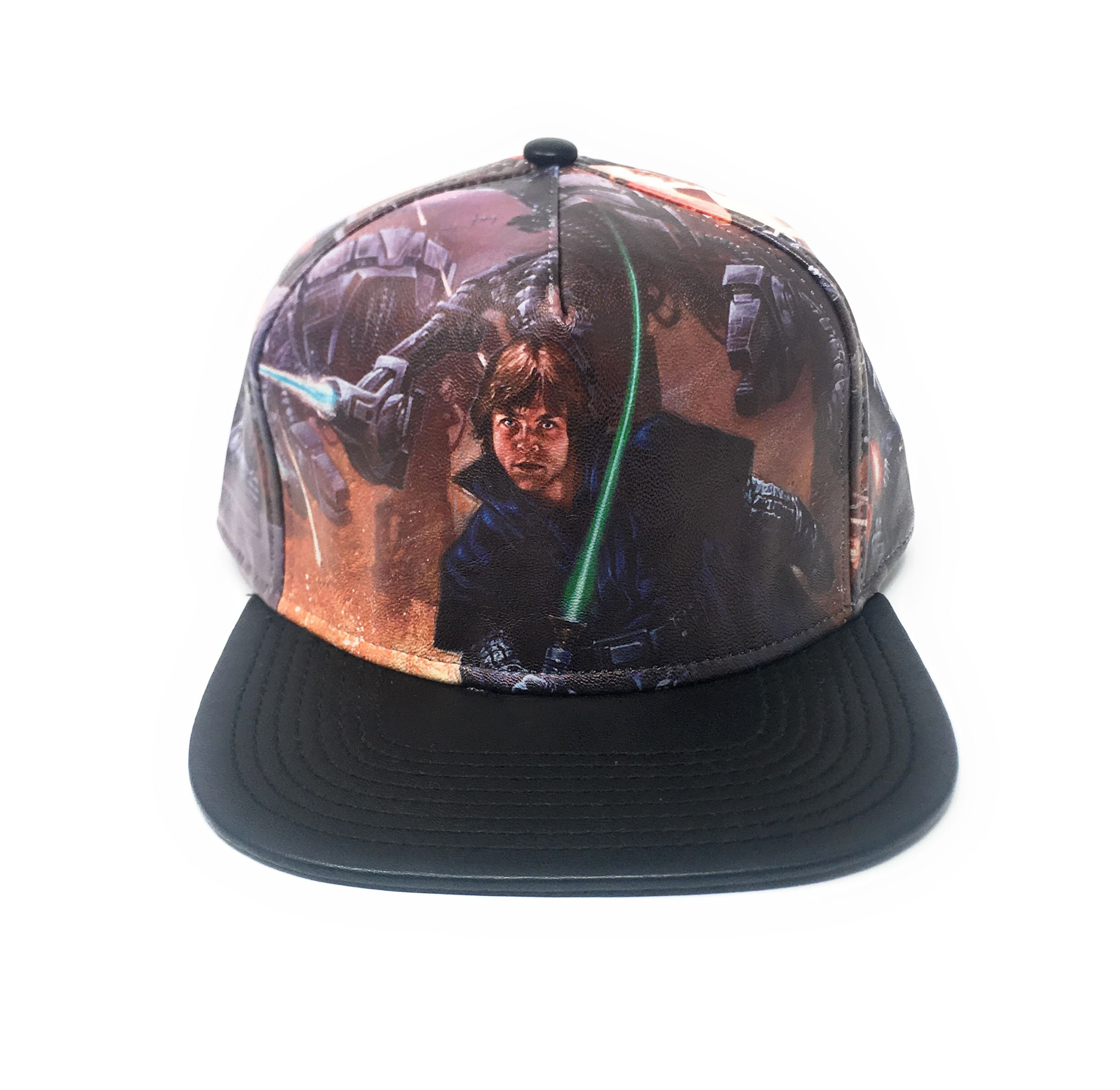d941045806f31 Get this Bioworld Licensed Star Wars - Printed Scene PU Brim Snapback Hat!  Go get