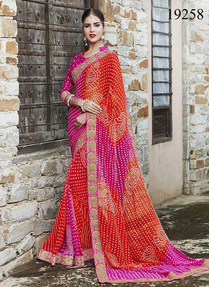 Pakistani Designer Bollywood Partywear Sari Ethnic Indian Dress ...
