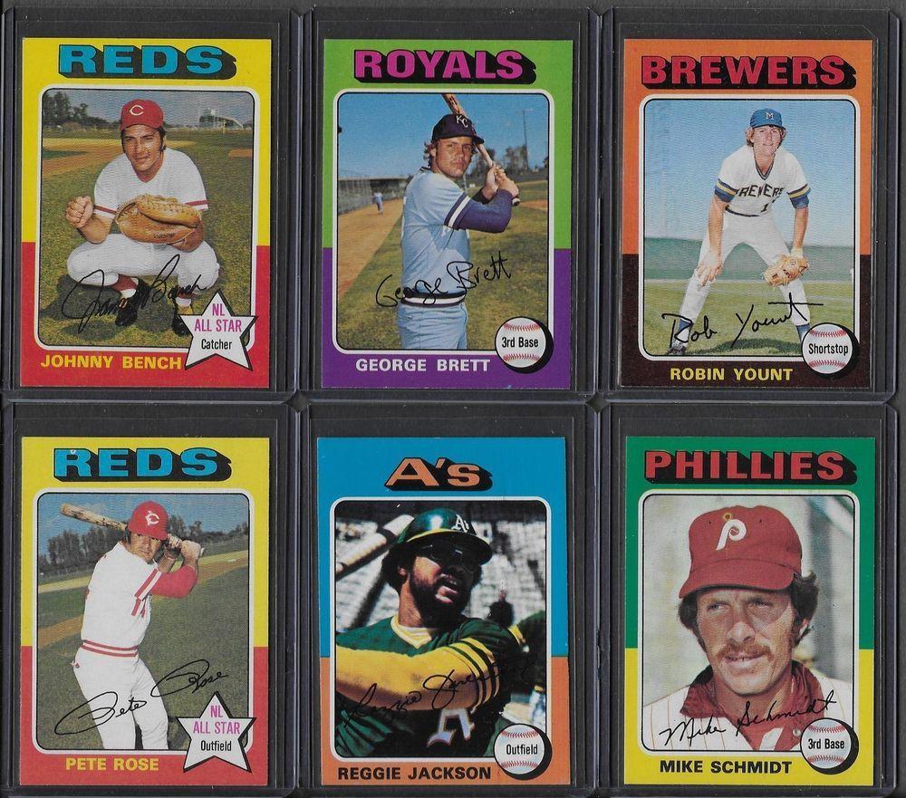 1975 topps baseball complete 660 card set brett