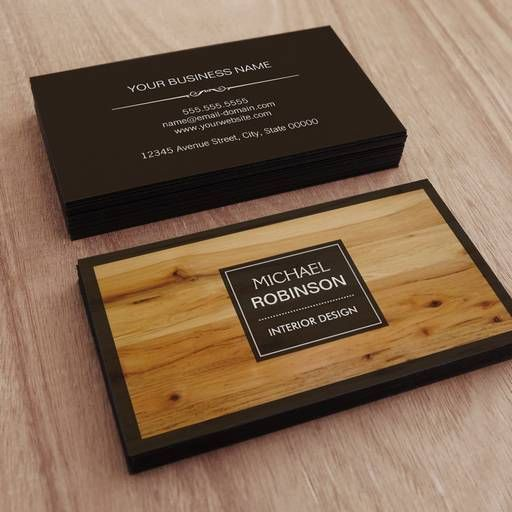 Wood Grain Business Cards Elitadearest
