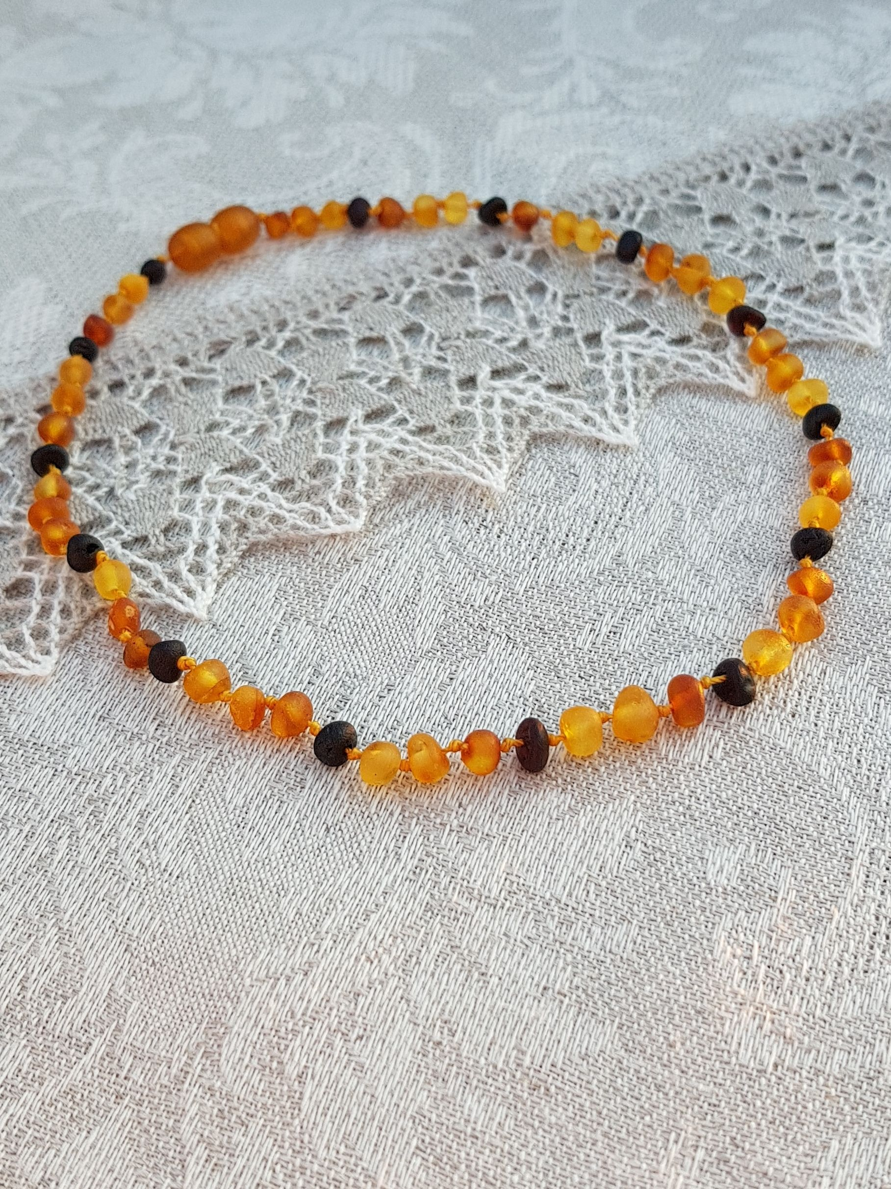 Raw Baltic Amber Teething Necklace For Boys Girls Or Children