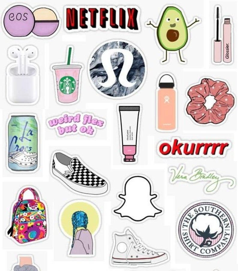 Vsco 20 Sticker Pack In 2020 Iphone Case Stickers Girl Stickers Hydroflask Stickers