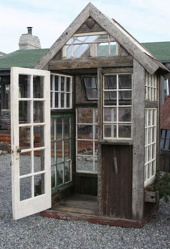 green house with windows, looks like it shouldn't be too hard to make either