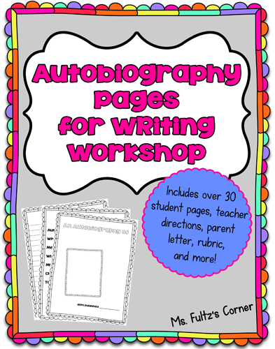 Autobiography Project For Writing Workshop  Students Language