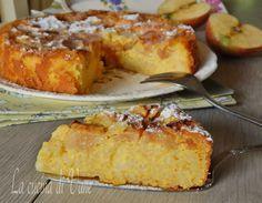 Torta di riso e mele senza burro e olio, una torta golosa,dal sapore delicato, da aromatizzare con cannella o limone.Torta di mele senza burro olio e farina